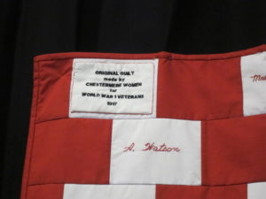 Quilt- Historic Replica of 1917 Chestermere Red Cross Quilt