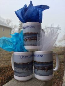 Chestermere Mugs with photo from Ray Blanchard of geese on the Lake 2016
